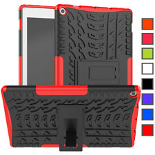 For Amazon Fire HD 10 10.1 Inch Tablet 7th 9th 2019 Armor Hard Rubber Stand Case