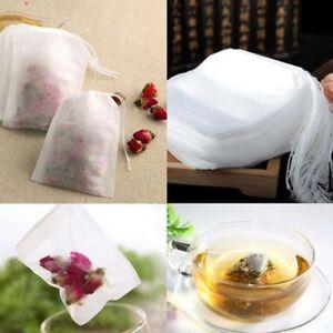 100Pcs Cotton Muslin Drawstring Reusable Bags Bath Soap Herbs Tea Making DG
