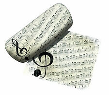 Spoontiques Padded Eyeglass Case, Music Lover, with Matching Lens Cloth