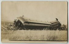 1909 Hutchinson Minnesota Railroad Wreck Real Photo Postcard RPPC