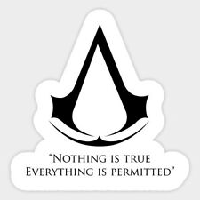 Assassin's Creed Logo Decal Decor Car Bumper Laptop Vinyl Sticker