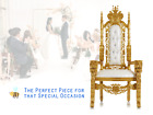 NEW 6' Party Hall Lion Throne Chair - High Back Mahogany Wood - Ornate Carvings