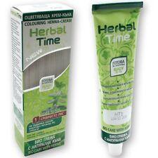 100% NATURAL HERBAL TIME HENNA CREAM HAIR COLOUR / DYE BIO HAIR CARE 75 ML