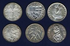 SWITZERLAND 1953-1968  SHOOTING MEDALS, MISC. SILVER MEDALS LOT OF (6)
