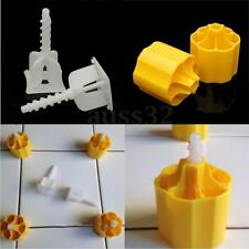 Tile Leveling System 50 Caps + 100 Cross Spacers Plastic Flooring Tool Kits