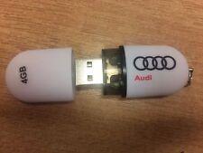 Genuine Audi 4GB White USB Stick/Keyring