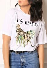 New Womens Casual Short Sleeve Animal Leopard Print Ladies T Shirts Top Blouse