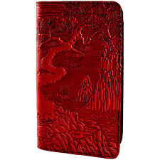 Riven Garden Red Leather Checkbook Cover Oberon Design COMBINED SHIPPING