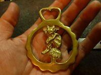 Vintage Brass Horse Saddle Harness Medallion Ornament (#752)