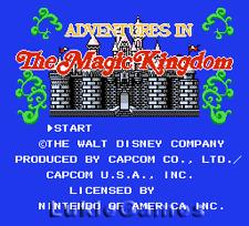 Disney Adventures In Magic Kingdom - NES Nintendo Game