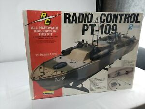 Lindberg PT 109 Motorized Radio Control Adaptable Plastic Model