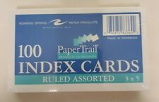 Paper Trail Ruled Index Cards Multi Colored 3x 5 100 Count