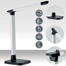 B.K.Licht BKL1154 LED Schreibtischlampe - Schwarz/Silber
