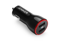 Anker 24-Watt Dual USB Car Charger PowerDrive 2 for Apple iPhone 6s