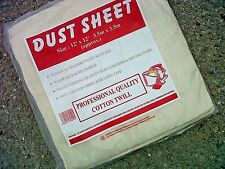 LARGE PROFESSIONAL QUALITY (12 ft x 12 ft) 100% COTTON TWILL DUST SHEETS