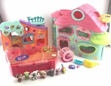 Biggest Littlest Pet Shop LPS Playset Carrying Case Treehouse Accessories LOT