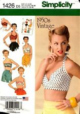 Simplicity Sewing Pattern 1426 Misses 1950s Vintage Bra Tops 4-12 or 14-22