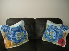 """Luxury Soft wool felted Flowers  meadow set Cushion Cover Pillowcase20""""X20"""" Wall"""