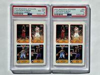 2003-04 Bazooka Stickers Lebron James Rookie LOT RC PSA 9 & 8 MINT