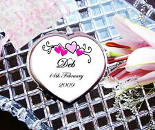 Personalised Compact Mirror Heart Mothers Day Birthday Christmas Gift