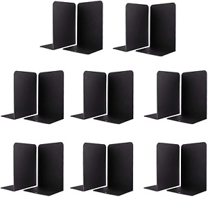 Jekkis Book Ends 16pcs Metal Bookends for Shelves, Metal Heavy Duty Bookends for