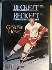 LOT (2) Beckett Hockey Monthly: Sep 1996 Issue #71 Cover Gordie Howe