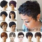 100% Remy Brazilian Human Hair Short Wig Straight Curly Wave Bob Wig Women Mommy