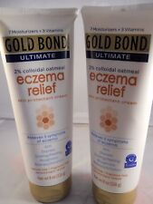 gold bond eczema relief 2% colloidal oatmeal (8oz each 2pk bundle) FRESH & NEW