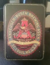 Vintage Anheuser Busch Playing Cards In Tin. 1980's Hudson-Scott Carlisle.