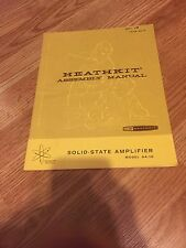 Heathkit Assembly Manual AA-18 Solid State Amplifier - Manual Only -