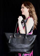 Kate Spade southport avenue medium harmony Tote Bag Black pebbled leather travel