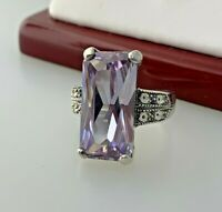 Lavender Amethyst Ring In Sterling Silver Sz 6.75   #8