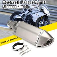 38mm-51mm Pot d'échappement Silencieux Courte Titane Amovible Dirt Bike Moto