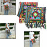Hippie Tassel Ethnic Shoulder Bag Tote Messenger Hmong Vintage Embroidery Boho