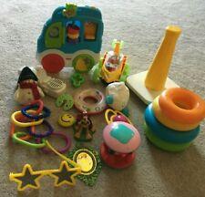Huge Infant Toy Lot of 10+ Developmental Infant Toys Sensory Baby Teether Rattle
