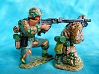 King & Country retired - WS051 - 2 soldats allemands WW2 avec MG42 - Issu du set