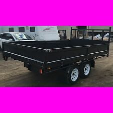 12x7 foot table top tandem trailer flatbed flat top trailer 2800kg brand new