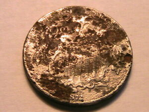 """1872 Shield Nickel 5C About Good """"AG"""" Low Grade Corrosion US Shield 5 Cent Coin"""
