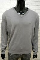 Felpa Maglione Uomo Hugo Boss Taglia 2XL Cardigan Pullover Grigio Sweater Man