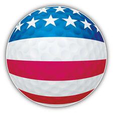 USA Flag Golf Ball Car Bumper Sticker Decal 5'' x 5''