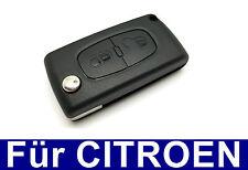 2Tasten Klappschlüssel Gehäuse für CITROEN C2 C3 C4 C5 C6 Berlingo ROHLING CASE