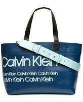 Calvin Klein Tannya Extra-Large Logo Tote (Navy) - NWT