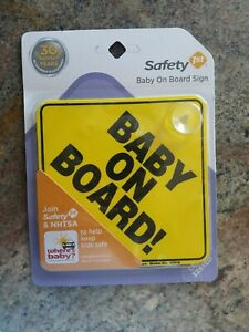 Safety First Baby On Board Yellow Sign