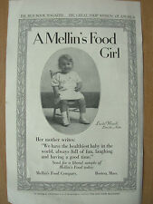 VINTAGE 1915 ADVERTISEMENT - MELLIN'S FOOD GIRL - MELLIN'S BABY FOOD COMPANY