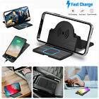 15W Foldable Car Qi Wireless Charger Auto Phone Holder Mount Non-slip Mat Pad