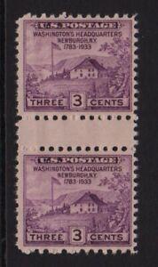 1935 Sc 752 Newburgh, Farley issue horizontal gutter pair NGAI typical pair