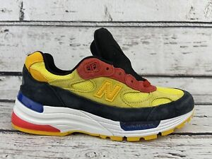 New Balance Made in USA 992 Blue/Yellow Men's Shoes M992DM Size 5.5