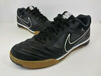 Nike Gato 5 LTR Indoor Soccer Shoes 415123-001 Black White - Men's Size 10.5