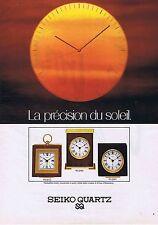 PUBLICITE ADVERTISING 114 1979 SEIKO à Quartz pendulettes