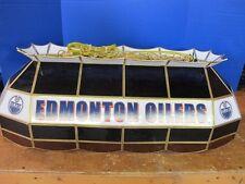 "TIFFANY 40"" NHL EDMONTON OILERS HOCKEY STAINED GLASS LAMP BILLIARD LIGHT MSR$578"
